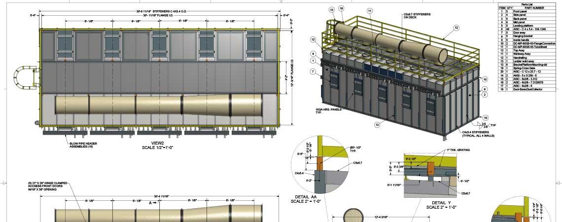 Engineering And Design Baghouse Industrial Amp Sheet Metal